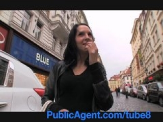 PublicAgent She flashes her boobs on the street before sex