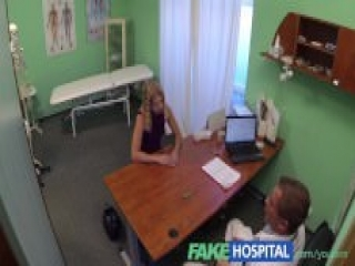 FakeHospital Cute blonde teen with soft young natural body prescribed internal creampie