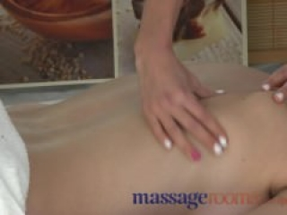 Massage Rooms Beauty with massive boobs gets deep sensual fingering